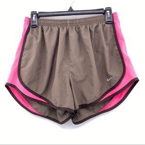 Nike Dri Fit Running Shorts Size Medium Pink Brown